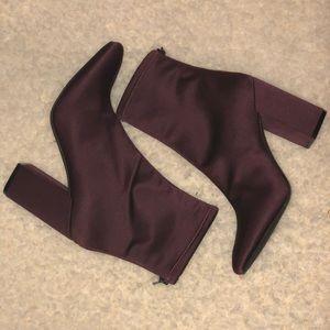 Jessica Simpson Wine/Stacked Heel Bootie